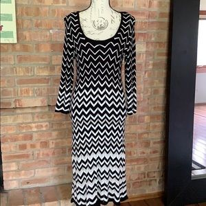 WHBM Chevron Midi Knit Dress